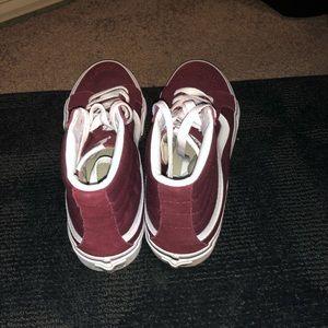 Vans Shoes - Vans Maroon Sk8-Hi (Women's 8 Men's 6.5)